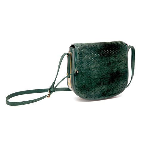 mata hari x Peony Rice Collaboration: Ali Saddlebag Hunter green