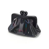 Amy Metallic Clutch black hologram