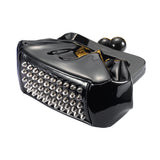Amy Metallic Clutch black