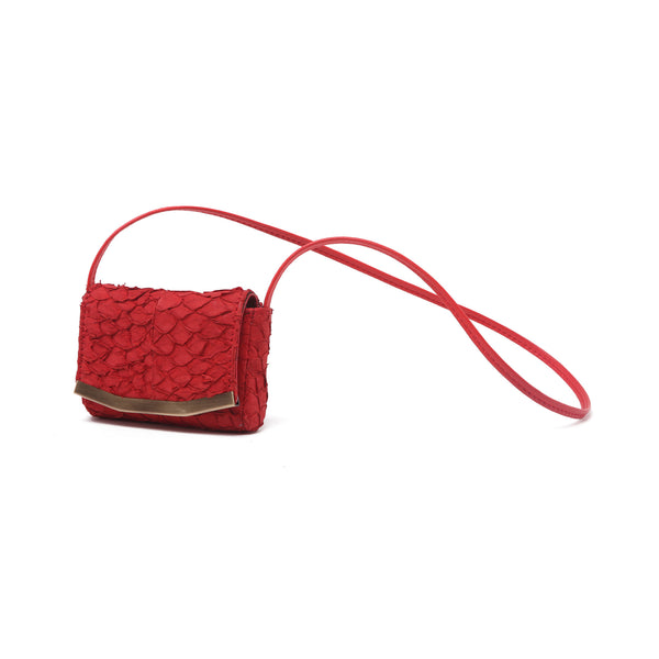 mata hari x Peony Rice Collaboration: Dottie Mini Pouch red salmon