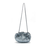 mata hari x Peony Rice Collaboration: Edie Clutch ice blue