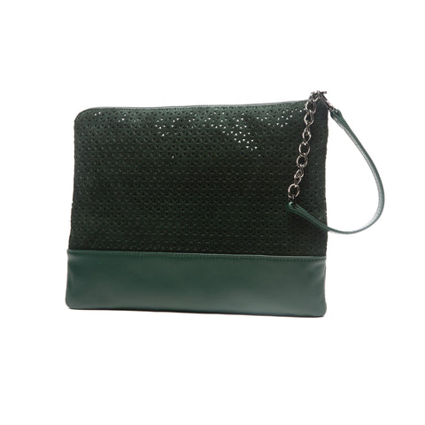 mata hari x Peony Rice Collaboration: Gemma Clutch forest green