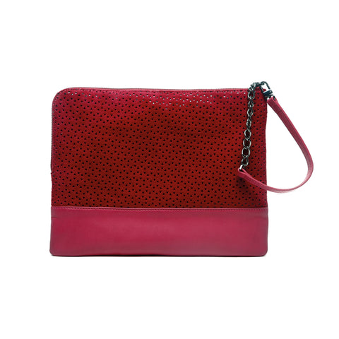mata hari x Peony Rice Collaboration: Gemma Clutch burgundy
