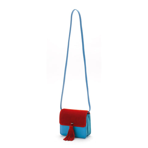 Grace for mata hari: Grace Clutch red/blue