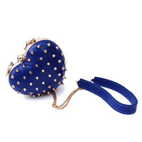 mata hari x Melody Ehsani: Me Heart Purse/Clutch ink blue