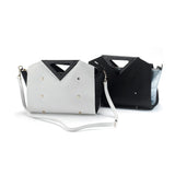 Melina Satchel white/black
