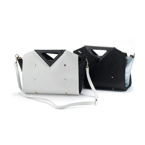 Melina Satchel black/ice blue