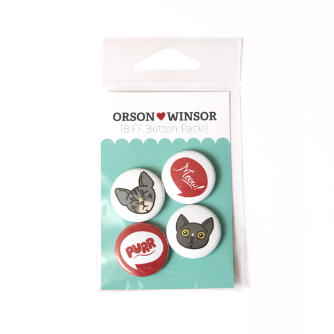 Orson + Winsor BFF Button Pack