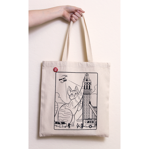 Kitty Kaiju Tote Bag