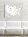USA Map in Light Grey