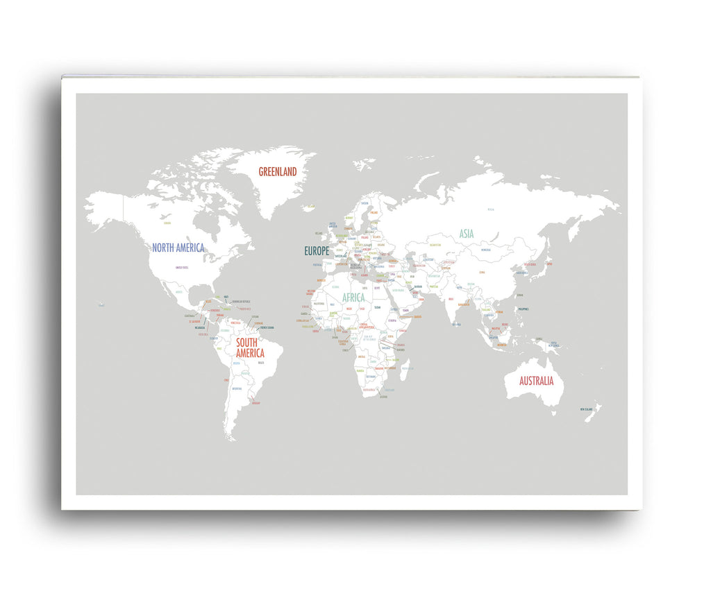 World map in light grey kindred sol collective world map in light grey gumiabroncs Image collections
