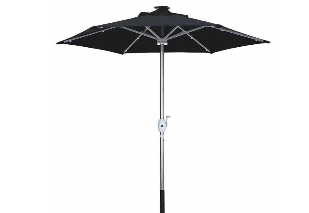 Solar Powered LED Parasol 2.7m Sun Umbrella