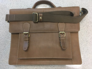 Buffalo Hide Leather Travel or Work Satchel