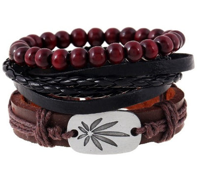 Multi-Layer Leather Bracelet - American Weedster