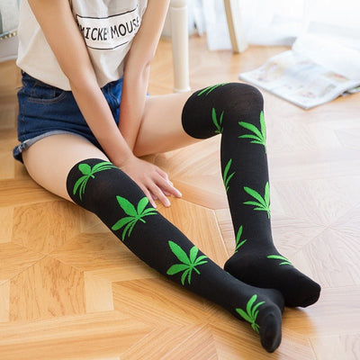 Weed High Over The Knee Sockings - American Weedster