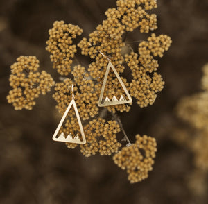 Triple Peak Earrings