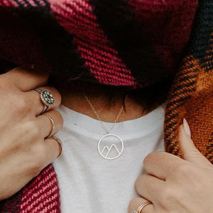 Twin Peaks Circle Necklace