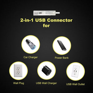 Universal 2-in-1 LED Board Power Adapter Cord Accessory Replacement Kit Set - Woodsam