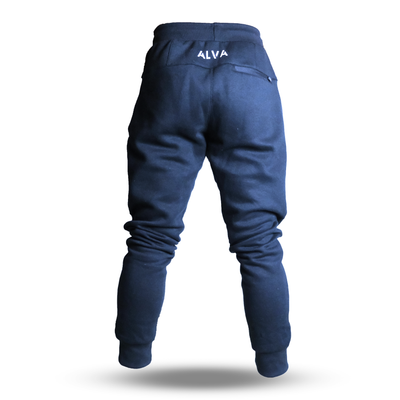 Cotton Fleece Jogger Capri Blue