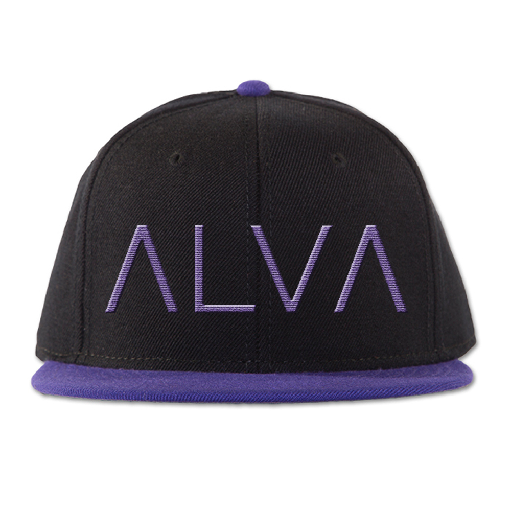 ΛLVΛ Purple & Black Snapback
