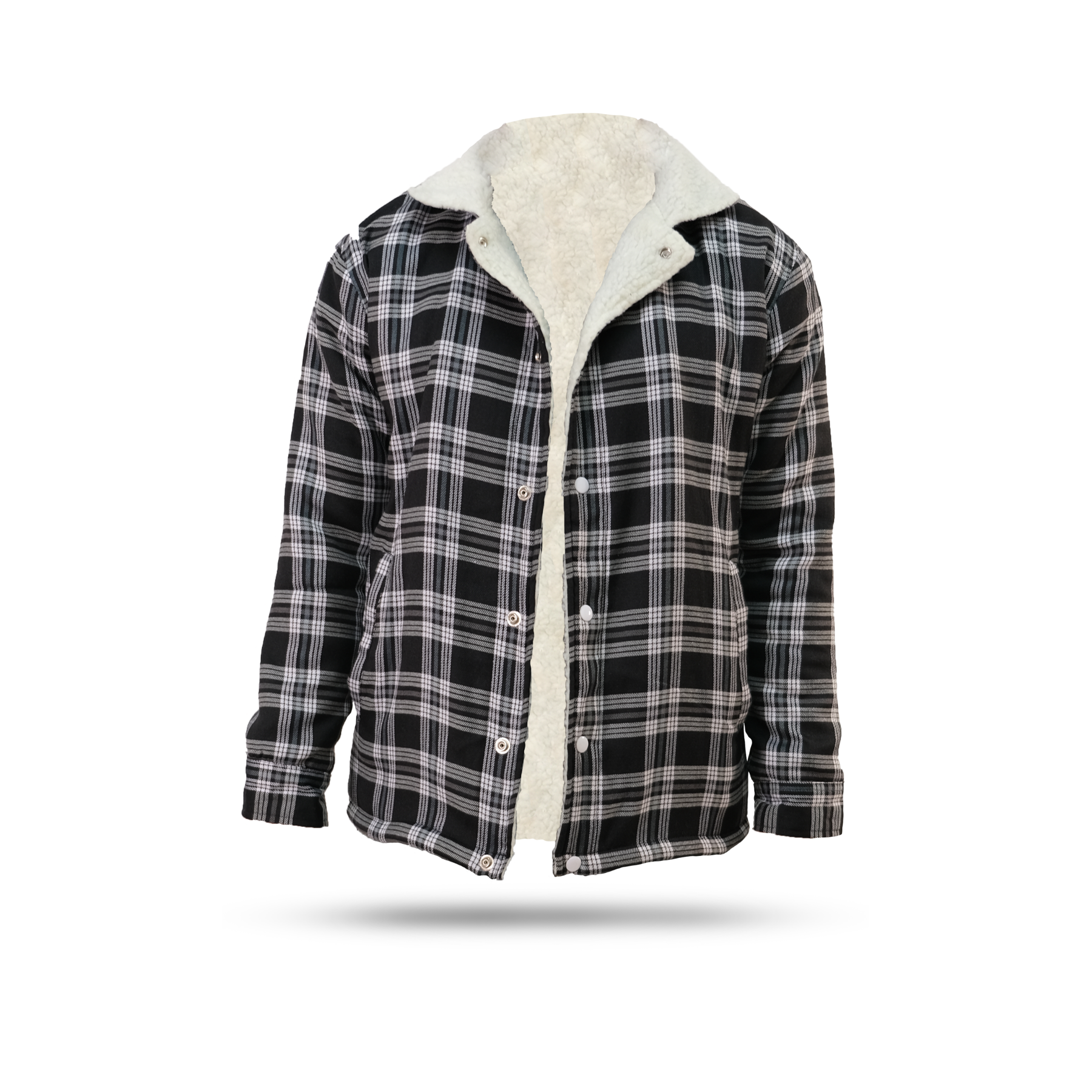 Sherpa Flannel Jacket Washed Black
