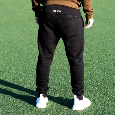 Cotton Fleece Jogger Black