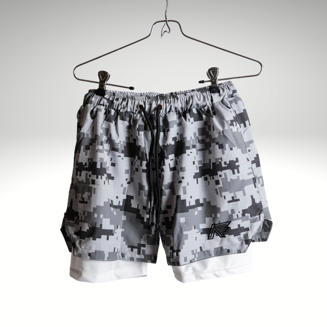 Digital Camo 2-in-1 Compression Shorts V1