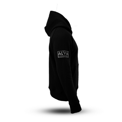 Cotton Fleece Hoodie Black