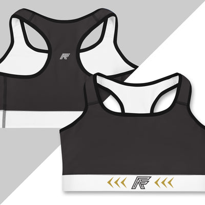 White Ranked Sports Bra