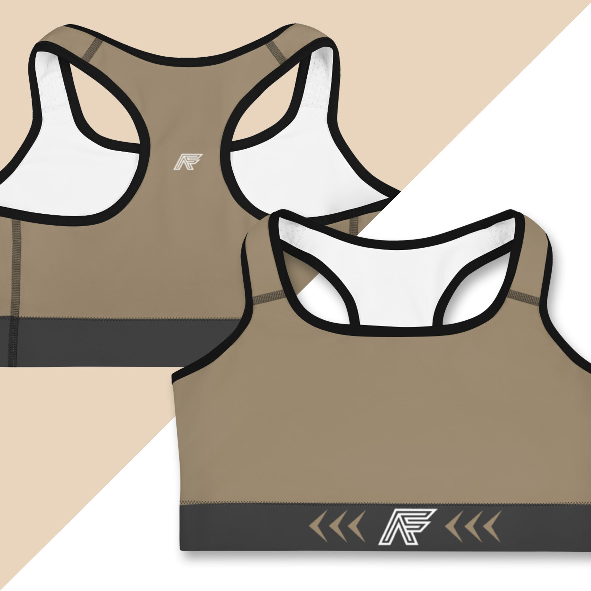 Brown Ranked Sports Bra