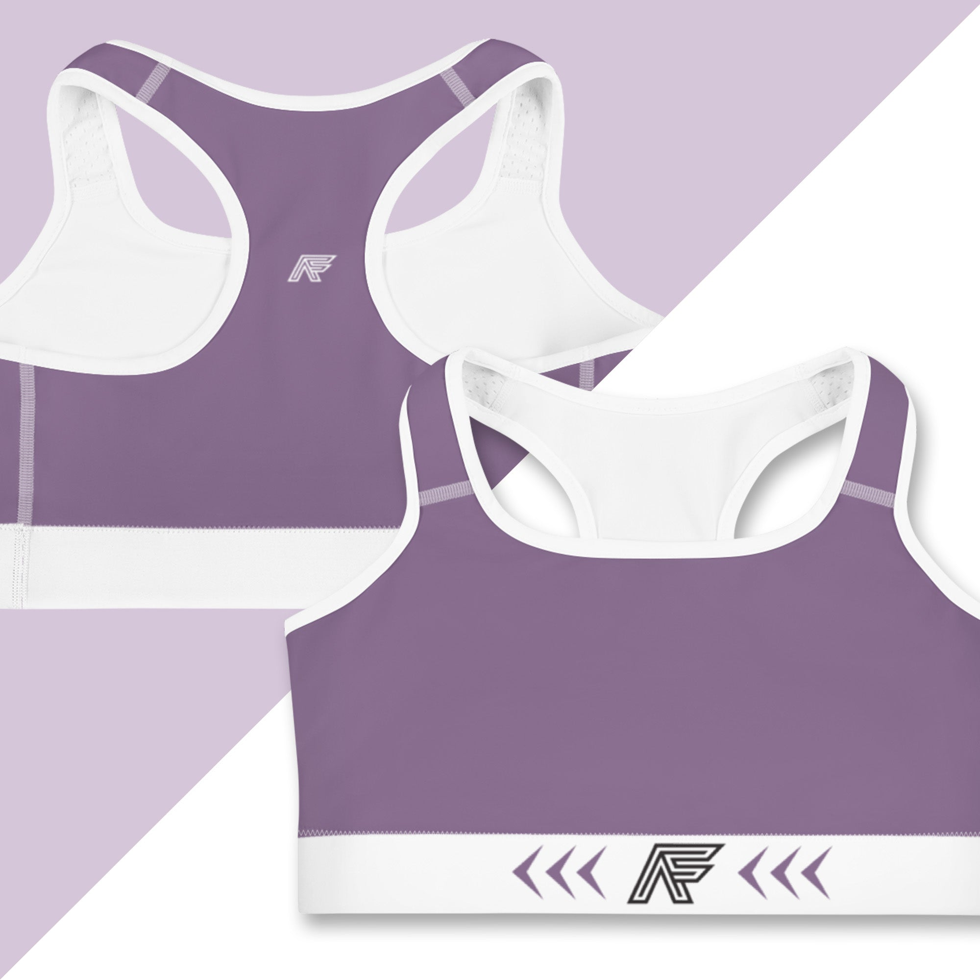 Purple Ranked Sports Bra