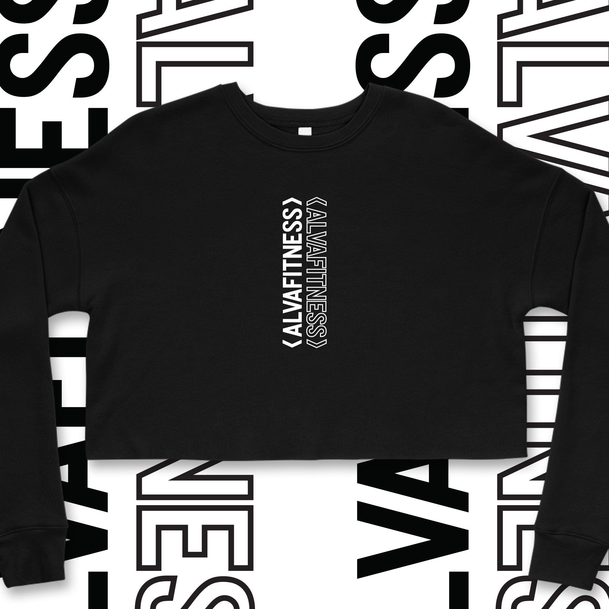 Double Vision Crop Crewneck