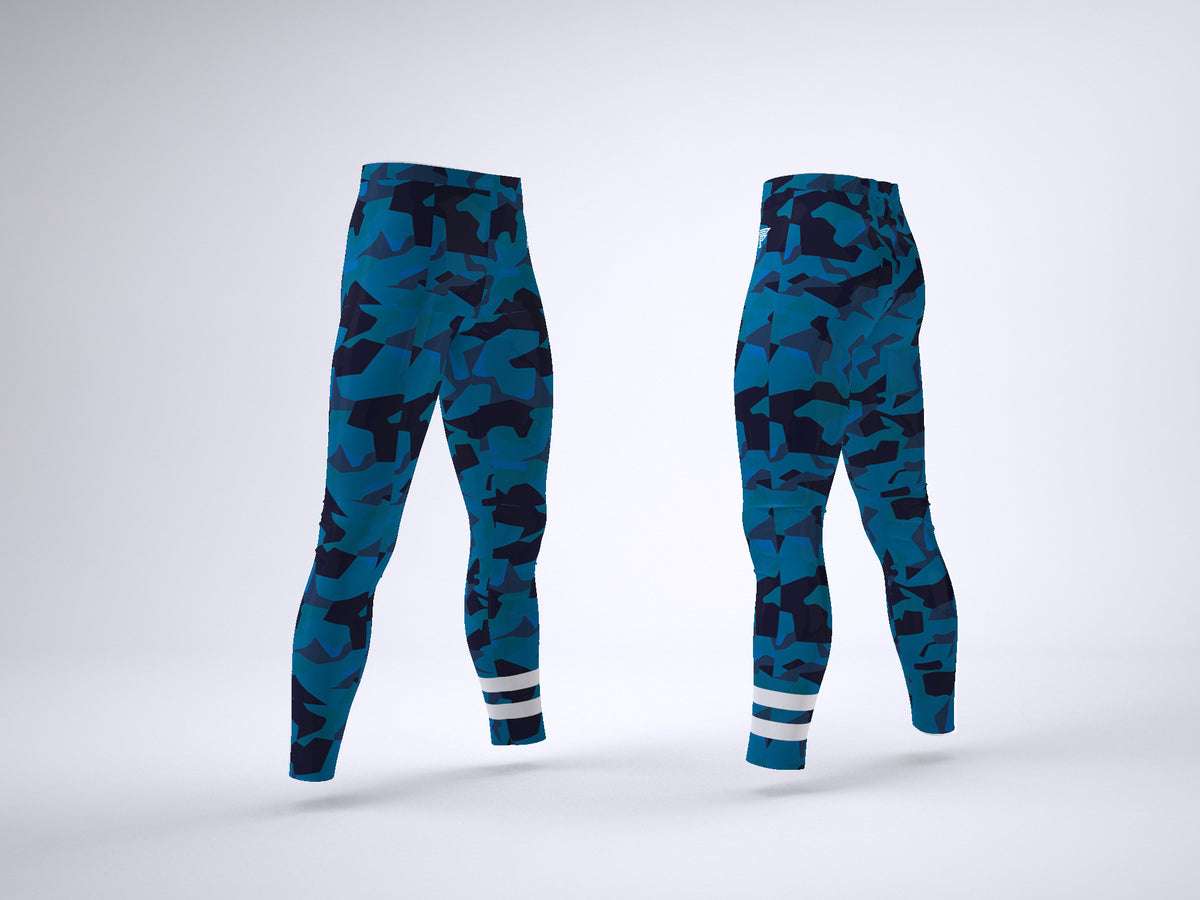 Blue Tiger Camo Leggings