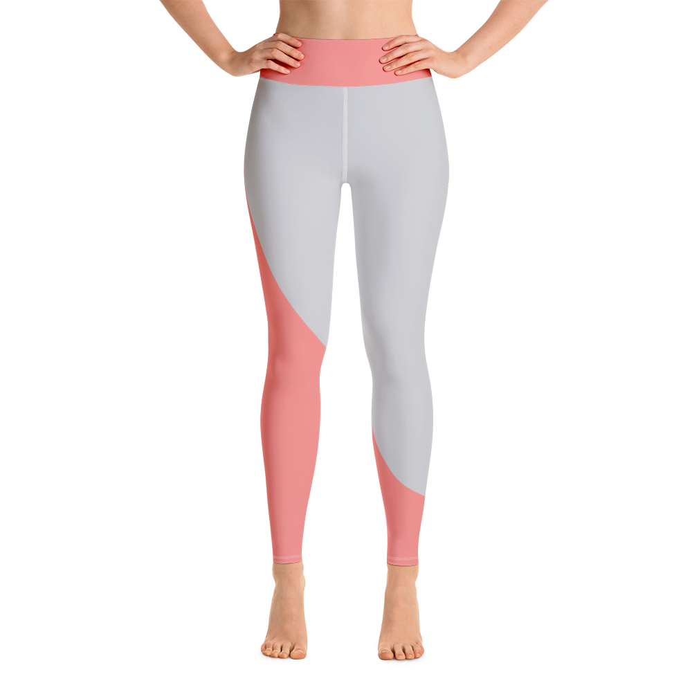 Pink/Charcoal Sculpted High Waisted Leggings