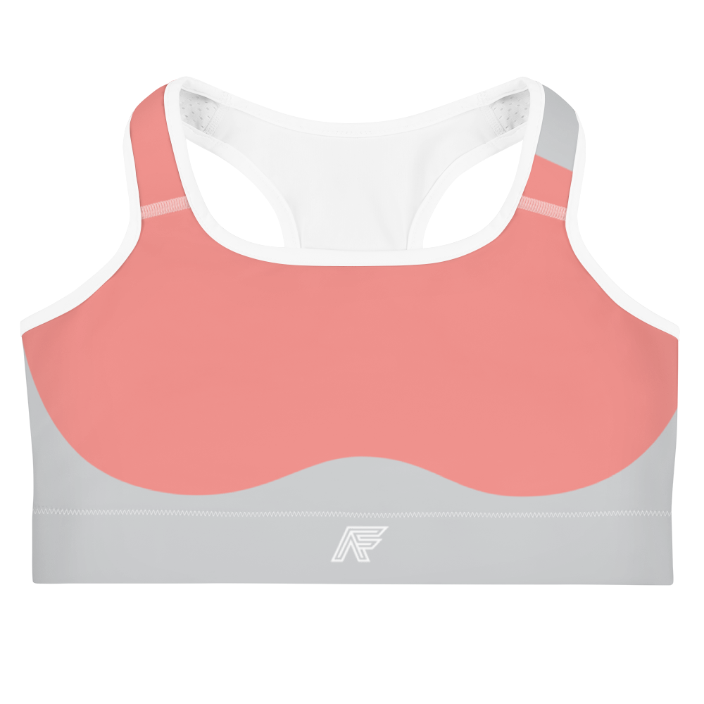 Pink/Graphite Sculpted Sports Bra
