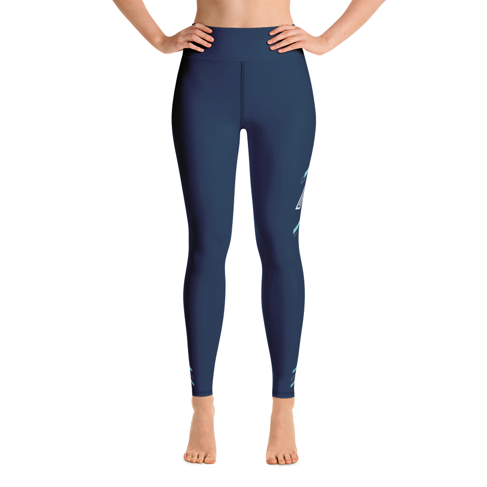 Blue Energy High Waisted Leggings