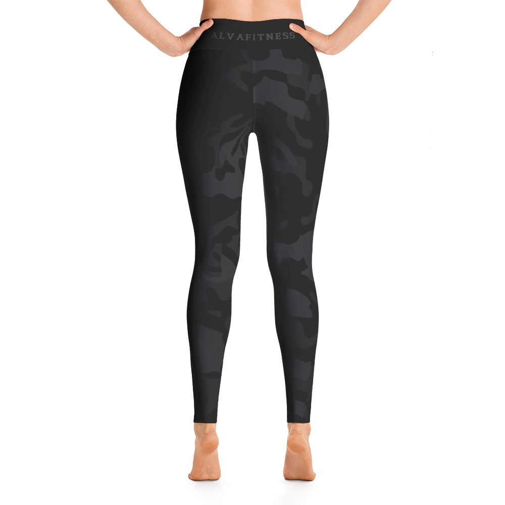 Black Camo High Waisted Leggings