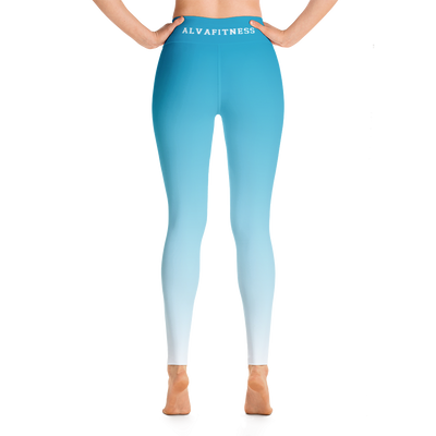 Blue Hawaiian High Waisted Leggings