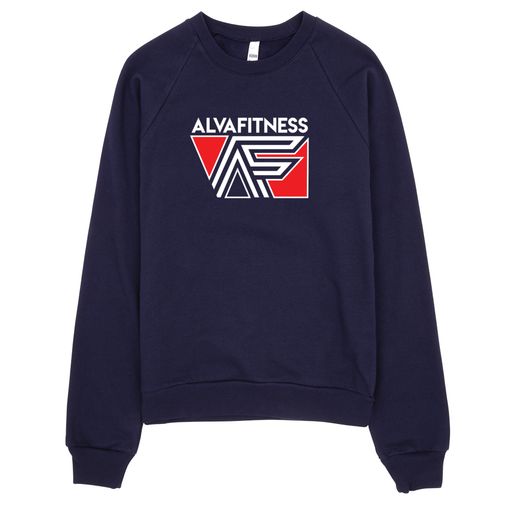 California Fleece Crewneck - Navy and Red