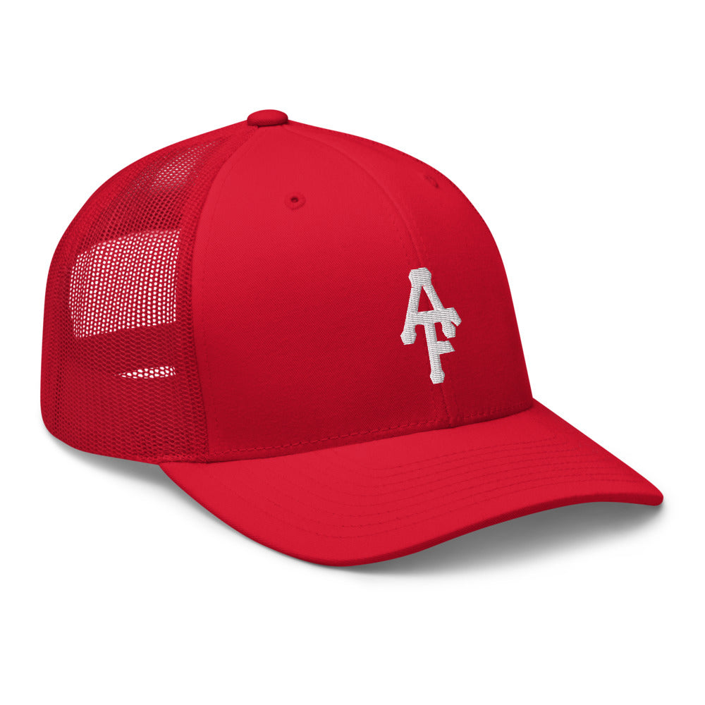 Red Retro Trucker Cap