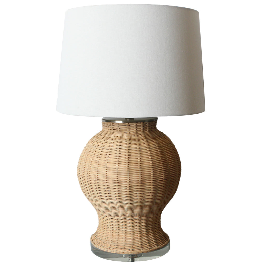 Rattan Lamp with lucite base