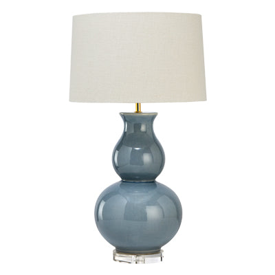 Light Blue Crackle Gourd Lamp