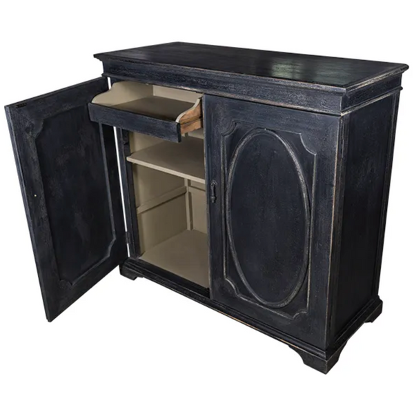 Aged Black French Sideboard