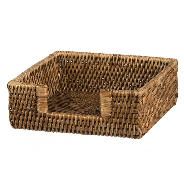 Rattan napkin holder - brown