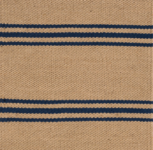 Dash & Albert Lexington Navy/Camel Indoor/Outdoor Rug