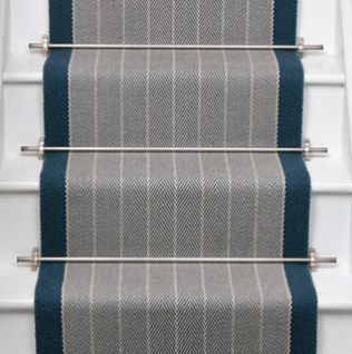 Roger Oates Stair Runner - Dart Midnight