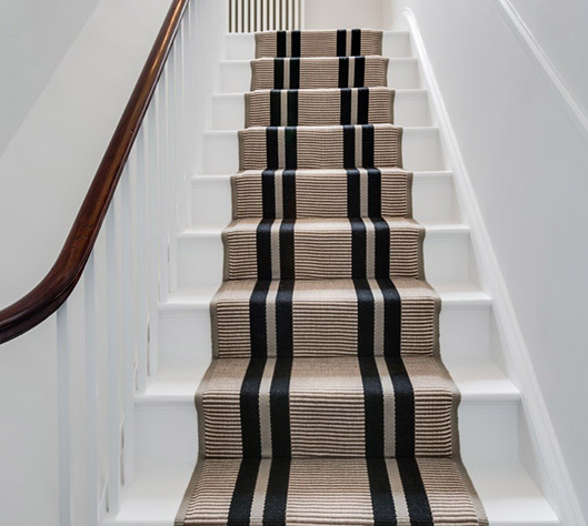 Hartley & Tissier Runner - Flatweave Large Stripe - Black