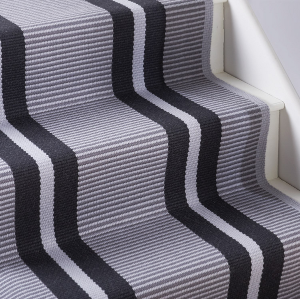 Hartley & Tissier Runner - Flatweave Large Stripe - Graphite