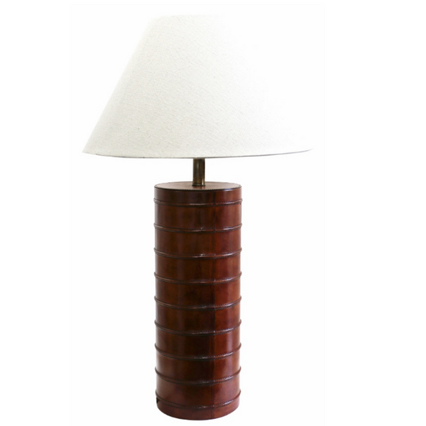 Leather Lamp - Dark Walnut