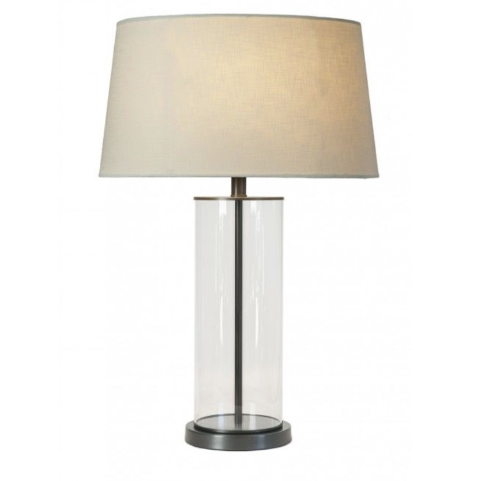 Bronze Rod Glass Lamp